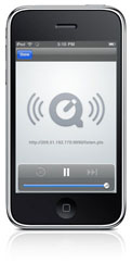 The Radio Factory broadcast on iPhone